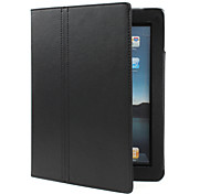 Custodia in pelle PU con supporto per iPad 2 - Nero