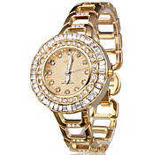 Golden Jewel Case Fashion Women's Wrist Watch