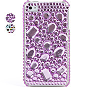 caso colorido protector de PVC con cristales de la cubierta para el iPhone 4, 4s