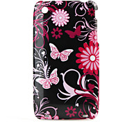 Flower and Butterfly Pattern Protective Cover Case for iPhone 3G, 3GS