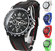 Unisex Quartz Analog Silicone Band Wrist Watch (Assorted Colors) Cool Watch Unique Watch