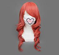Cosplay Perücken Final Fantasy Lightning Rot Medium Anime/ Videospiel Cosplay Perücken 65 CM Hitzebeständige Faser Frau