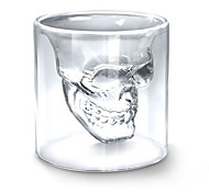 Kristall Totenkopf Glas