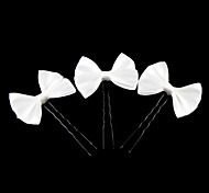 Lovely Satin Bow Flower Girl Hairpins/Headpiece (Set of 3)