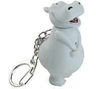 Cow Keychain with LED Flashlight and Sound Effects (Assorted Colors)