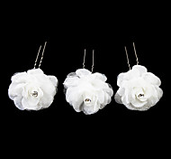 Lovely Satin Flower Girl Hairpins/Headpiece (Set of 3)
