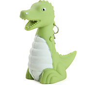 Dinosaur Keychain with LED Flashlight and Sound Effects (Green)