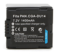 Digital Camcorder Battery for Panasonic NV-GS10 (7.2V, 1400mAh)