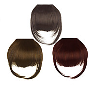 Clip in Synthetic Bang with Temples 3 Colors Available