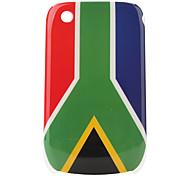 bandera Sudáfrica modelo de estuche protector para blackberry 8520 y 8530