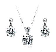 Lureme®Top Luxury Zircon Jewelry Set