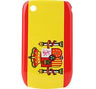 bandera de España patrón de estuche protector para blackberry 8520 y 8530