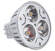 Spot Blanc Chaud MR16 GU5.3 3 W 3 LED Haute Puissance 270 LM DC 12 V