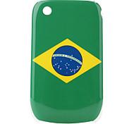 bandera de brasil patrón de estuche protector para blackberry 8520 y 8530