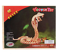 Wooden 3D Snake Puzzle Toy