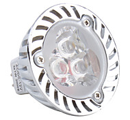 GU5.3 3x1w 3-LED 270lm 3000K теплый белый 12v лампа