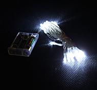 luz blanca lámpara LED-30 3m 2-modo LED cadena de colores para la Navidad (3xAA)
