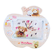 Lovely Bear Pattern Middle Sized Analog Alarm Clock