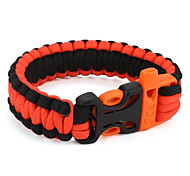 Para-Cord Survival Bracelet with Plastic Connection Buckle