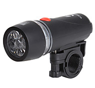 Bicycle LED Head Light with Red Warning Light and Mounting Bracket
