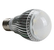 E26/E27 5 W 5 High Power LED 450 LM Natural White A Globe Bulbs AC 220-240 V