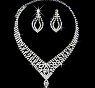 Elegant Marvelous Ladies Necklace and Earrings Jewelry Set (45 cm)