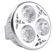 Focos MR16 3 W 3 LED de Alta Potencia 270 LM K Blanco Natural DC 12 V
