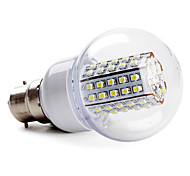 B22 W 66 SMD 3528 430 LM Natural White A Globe Bulbs AC 220-240 V