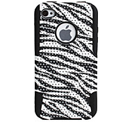 Curves Pattern Pattern Lagging Silicone and PC Case for iPhone 4 and 4S (Black)