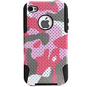 Punkte Stil schützenden Silikon hinken Hülle für das iPhone 4 und 4S (rosa)