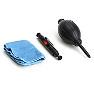 3 in 1 Camera Lens Cleaning Kit Dust Pen Cloth for DSLR & Camcorder