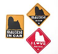 I Love My Maltese Dog Car Stickers (3-Pack)