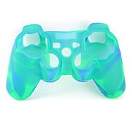 protetora de dupla capa de silicone cor estilo para ps3 controlador (amarelo e verde)