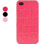 Etui Rigide de Protection en Cuir PU Style Peau de Crocodile pour iPhone 4/4S - Couleurs Assorties