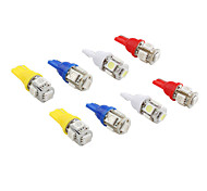 T10 5*5050 SMD LED Car Signal Lights (2-Pack, 4 Colors Availble)
