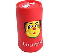 Squeaking Beer Can Toy for Dogs