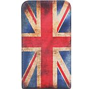 millésime uk flag motif de style simili cuir corps de boîtier complet pour sumsing i9220 (multi-couleur)