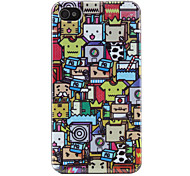 iPhone 4/4S Hoes Met Cartoonpatroon (Meerkleurig)