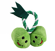 Apple Twins Style Pet Squeaking Toy with Rope for Dogs (13 x 13cm)