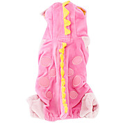 Crocodile Style Coat for Dogs (XS-XL, Pink)
