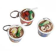 Instant Noodles Shaped Keychain (Random Colors)