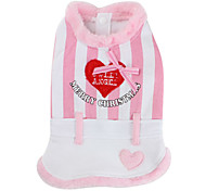 Eskimos Striped Style Dress for Dogs (XS-XL, Pink)