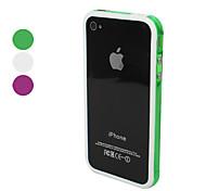 Anti-urto trasparente TPU con pulsanti in metallo per iPhone 4 e 4S