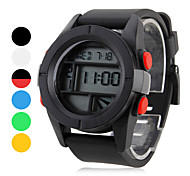 Unisex Rubber Digital Automatic Wrist Watch (Assorted Colors)