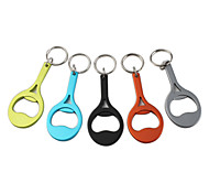 Battledore Shaped Bottle Opener Keychain (Random Color)