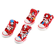 Panda Comfort Style Canvas Shoes for Dogs (XS-XL, Red)