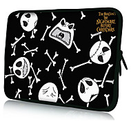 "Halloween Skull Laptop Sleeve Case for 10-15"" iPad MacBook Dell HP Acer Samsung"