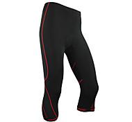 Santic-Mens' Cycling 3/4 Tights/Short Pants Coolmax Material Cycling Red Trace