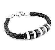 kortikalen Weben Titan Armband aus Stahl (schwarz)