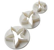 diy quattro petali di fiori torta di modello e taglio cookie stampo (3 pezzi)
